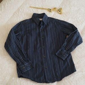 Calvin Klein boys black & blue striped shirt